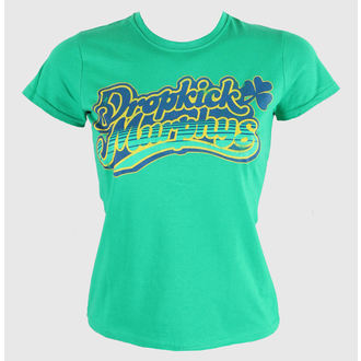 Damen T-Shirt  Dropkick Murphys - Script - Fitted - Green Kelly - KINGS ROAD - 00455