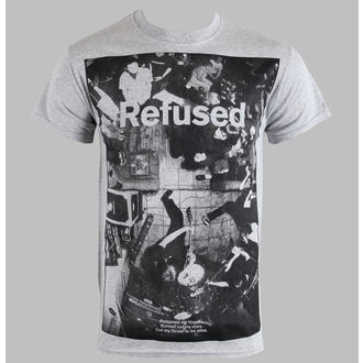 Herren T-Shirt   Refused - Live Photo - Heather Gray - KINGS ROAD - 01634