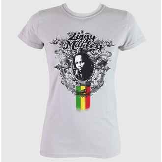 Damen T-Shirt  Ziggy Marley - Peaceful - Grey - KINGSROAD, KINGS ROAD, Ziggy Marley