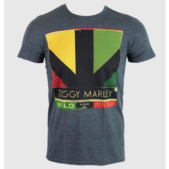 Herren T-Shirt   Ziggy Marley - Wild & Free Album - Heather Gray - KINGS ROAD, KINGS ROAD, Ziggy Marley