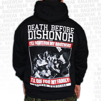 Herren Hoodie  Death Before Dishnor - Live Shot - Black - RAGEWEAR