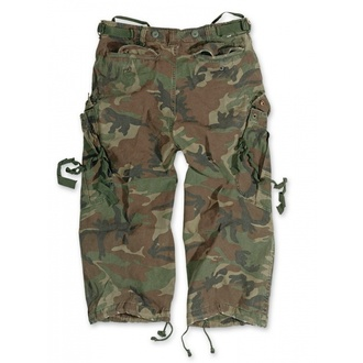 Kurze 3/4 Herren Hose SURPLUS - Vintage - Woodland, SURPLUS