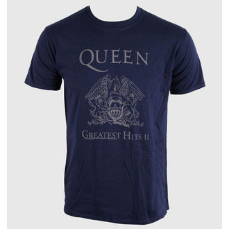 Herren T-Shirt   Queen - Greatest Hits II - Navy - BRAVADO EU - QUTS10MBL