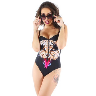 Damen Bikini  IRON FIST - Here Kitty - Black