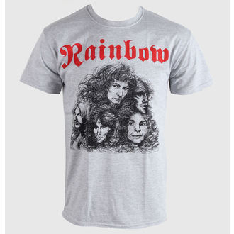 Herren T-Shirt   Rainbow - Long Live Rock&Roll - Grey - PLASTIC HEAD - PH7234