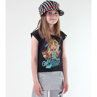 Mädchen T-Shirt Monster High - Black, TV MANIA, Monster High