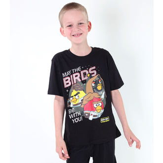 Jungen-T-Shirt  TV MANIA - Angry Birds - Black - SWAB 323