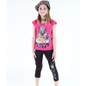 Mädchen Pyjama ( T-Shirt + Leggings) - Monster High - Pink / Black - MOH 536