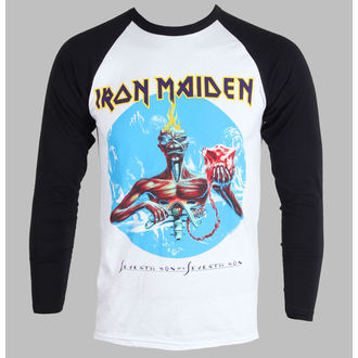 Herren T-Shirt   Langarmshirt  Iron Maiden - Seventh Son - White - IMRL01