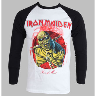 Herren T-Shirt   Langarmshirt  Iron Maiden - Piece Of Mind - White