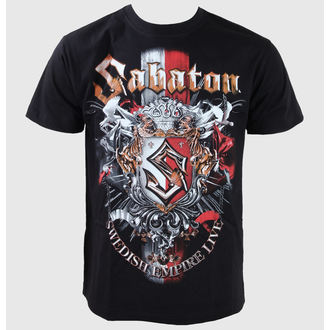 Herren T-Shirt Sabaton -Swedisch Empire Live - Black - CARTON