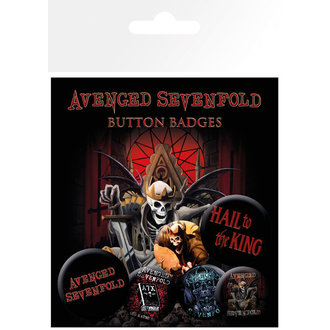 Button  Avenged Sevenfold - Hail to the King - BP0492