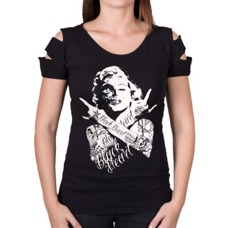 Damen T-Shirt Street - SKULL BITCH DESTROY - BLACK HEART, BLACK HEART