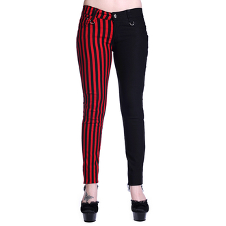 Damen Hose BANNED - Striped - Half Black/Half Red - TBN416BLK