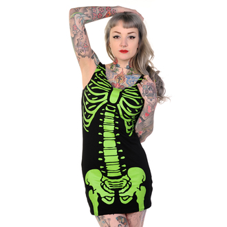 Damen Kleid  (Tunika) BANNED - Skeleton - Green - DBN522GRE