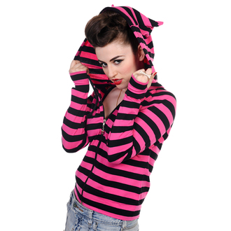 Damen Hoodie BANNED - Cat Ears Dark Pink - HBN014PNK