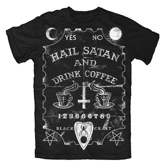 Herren T-Shirt   BLACK CRAFT - Hail Satan & Drink Coffee - Black - MT014HE
