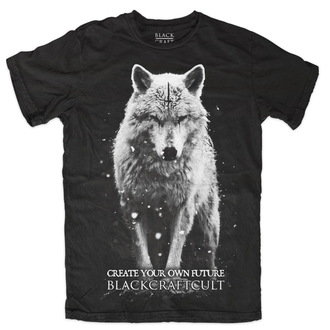 Herren T-Shirt   BLACK CRAFT - Lona Wolf - Black - MT087LF