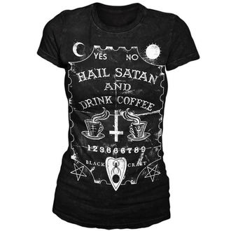 Damen T-Shirt  BLACK CRAFT - Hail Satan & Drink Coffee - Black - WT001HE