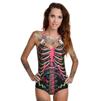 Damen Bikini Badeanzug TOO FAST - Electric Skeleton - Multi - WSWSK-ELSKLO