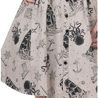 Damen Kleid  SOURPUSS - Walk The Plank - Taupe - SPDR100