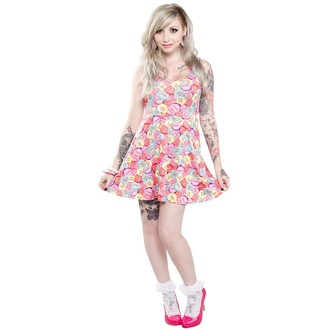 Damen Kleid  SOURPUSS - Skater Rotten Hearts - Multi Colors - SPDR65