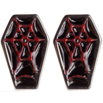 Ohrringeee/Ohrstecker SOURPUSS - Coffin - Black/Red - SPEA4