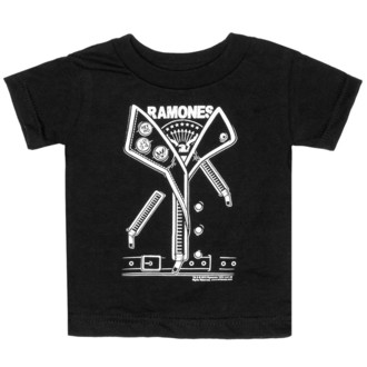 Kinder T-Shirt SOURPUSS - Ramones - Punker - Black - SPKT3