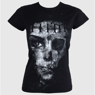 Damen T-Shirt  - HIM Woman B&W - Black - ROCK OFF, ROCK OFF, Him
