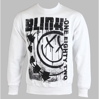 Herren Hoodie BLINK 182 - SPELLED OUT - WEISS - LIVE NATION - RTBLI014