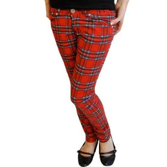 Damen Hose  HELL BUNNY - TARTAN PRINTED TROUSERS - 5123 - TAR Red