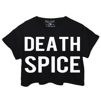 Damen T-Shirt  (Top) KILLSTAR - Death Spice Crop - Black
