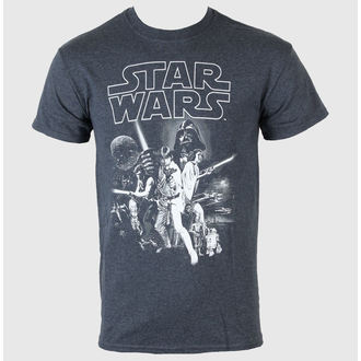 Herren T-Shirt   Star Wars - A New Hope One Sheet - LIVE NATION - Dark Heather - PE11684TSCP