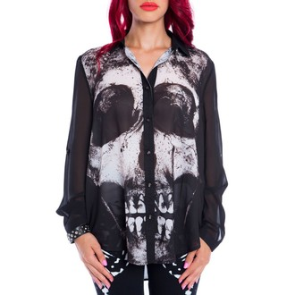 Damen Bluse IRON FIST - LOOSE TOOTH - BLACK - IFLFTP013