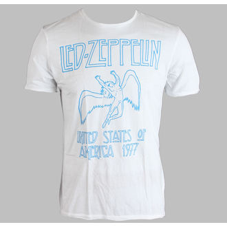 Herren T-Shirt Led Zeppelin - 77 - AMPLIFIED - White, AMPLIFIED, Led Zeppelin