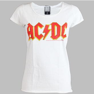Damen T-Shirt  AC/DC - Logo - AMPLIFIED - White - AV601ACL