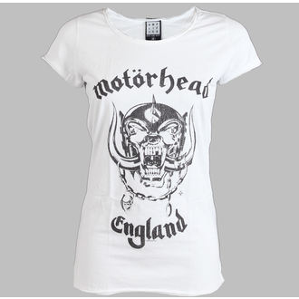 Damen T-Shirt  Motörhead - England - AMPLIFIED - White - AV601MHE
