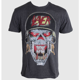 Herren T-Shirt Slayer - Army - AMPLIFIED - Faded Black - AW260SLY