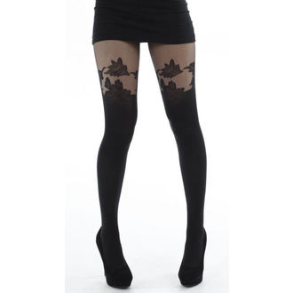 Strumpfhose PAMELA MANN - Floral Suspender Tights - Black - 083