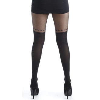 Strumpfhose PAMELA MANN - Over The Knee Hearts Tights - Black - 111