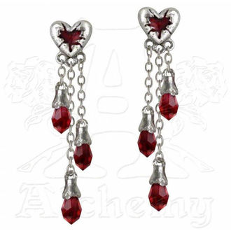 Ohrringeee ALCHEMY GOTHIC - Bleeding Heart - E272