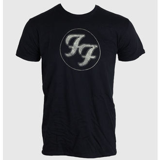 Herren T-Shirt FOO FIGHTERS - LOGO IN GOLD CIRCLE - BLACK - LIVE NATION - PEFFI062