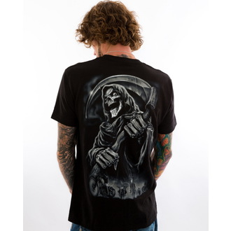 Männer Shirt LETHAL THREAT - LT Riding With The Reaper - Black - LT20262