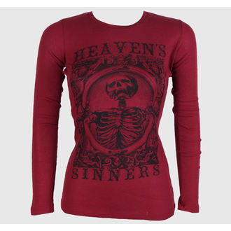 Damen Langarmshirt  SE7EN DEADLY - Heaven Sinners Red, SE7EN DEADLY