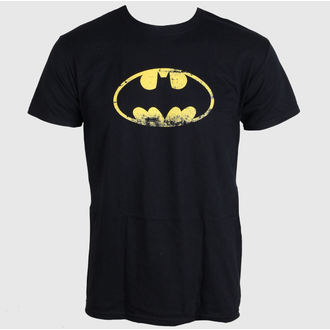 Herren T-Shirt   Batman - Distressed Logo - Black - LIVE NATION - PE10777TSBP
