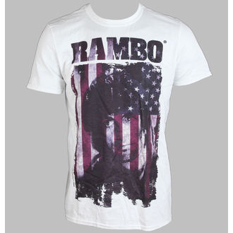 Herren T-Shirt   Rambo - Rambo Flag - White - LIVE NATION - PE11264TSWP