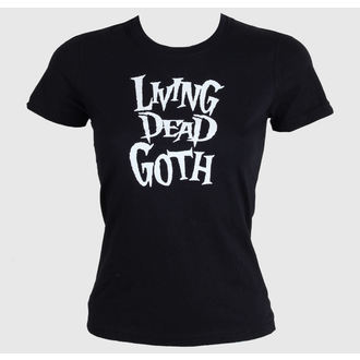 Damen T-Shirt  Living Death Goth - Black, BAT ATTACK