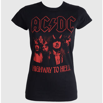 Damen T-Shirt  AC/DC - Highway To Hell Red - LIVE NATION - PE12086SK