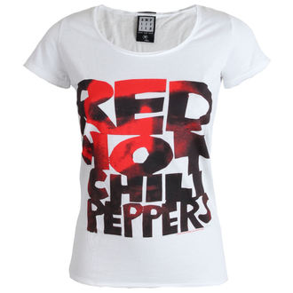 Damen T-Shirt  Red Hot Chilli Peppers - Type Face Fill - White - AMPLIFIED - ZAV601CPF