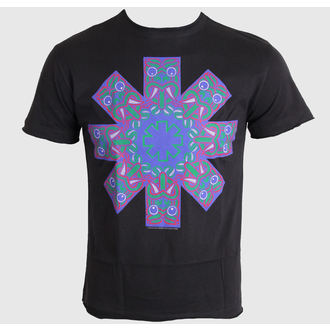 Herren T-Shirt   Red Hot Chilli Peppers - Aztec Face Asterik - Charcoal - AMPLIFIED, AMPLIFIED, Red Hot Chili Peppers